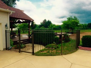 Ornamental Aluminum - Radius Panels & Arched Gate